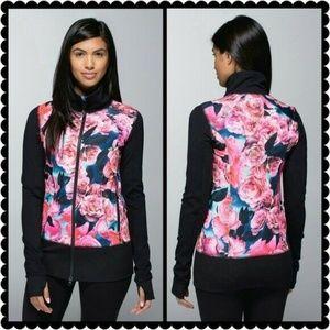 Lululemon Asana Secret Garden Zip Up Jacket